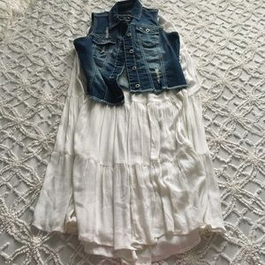 Spring/Summer Outfit! Jean Vest & Maxi Skirt